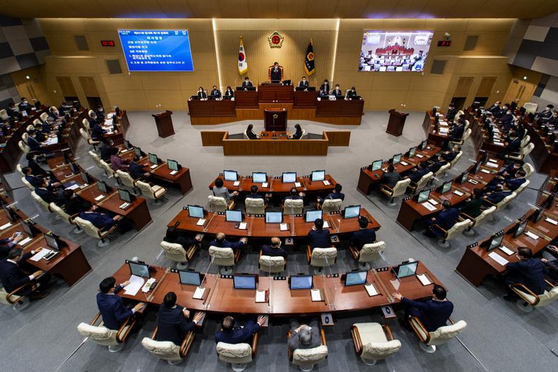 경북도의회, 제323회 임시회 개회