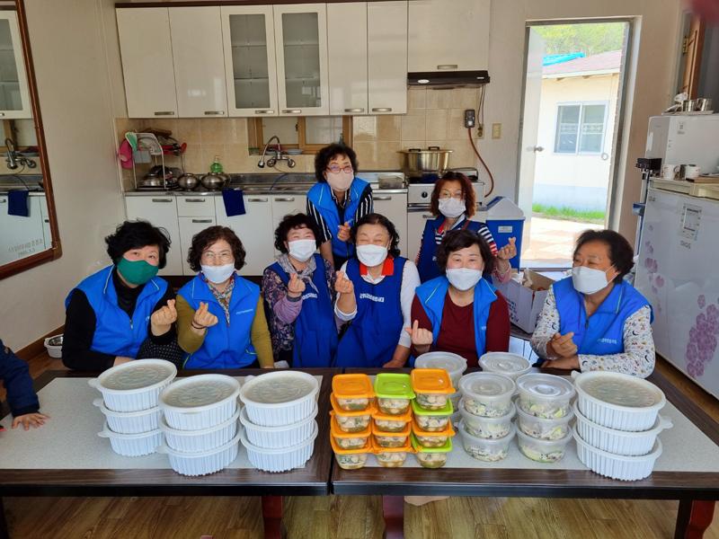 소보면 여성자원봉사대, 사랑의 반찬 나눔 봉사
